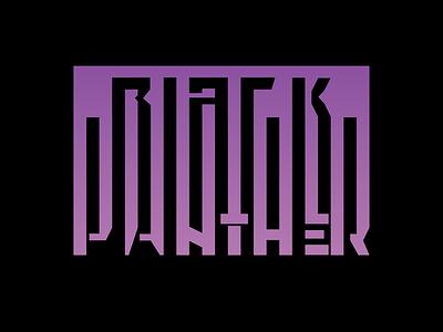 Black Panther black panther graphic design branding illustration typography ty logo