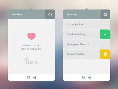 Taskr WIP ui interface clean ux flat list task management desktop app todo work