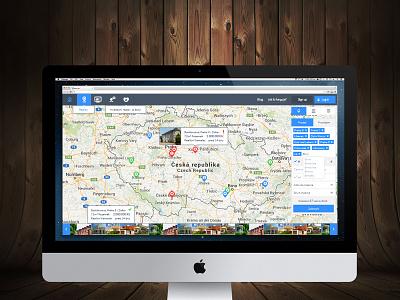 Reality Monitor interface ui ux app menu czech design filter dashboard map search web
