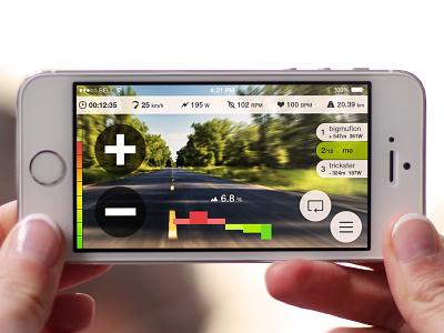 Virtual Training ui ux app iphone interface design clean flat mobile menu interaction visual