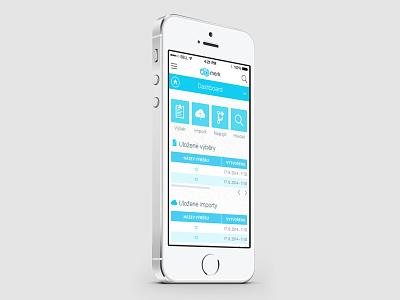 Merk Mobile ui ux mobile responsive bigdata blue dashboard flat interface menu iphone clean