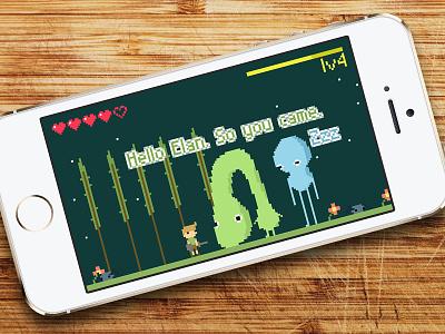 Elan pixelart pixel iphone mobile interface flat app design game fun fantasy sideproject