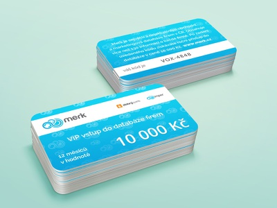 Merk Gift Cards print business company blue paper card product gift typography mockup app brand
