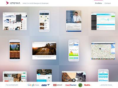 Portfolio web ui ux flat interface clean site portfolio design czech webdesign page