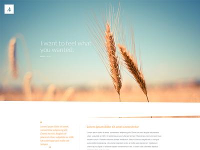 Organic - Web Design PSD