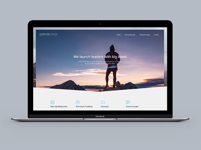 Corporate Website Interface