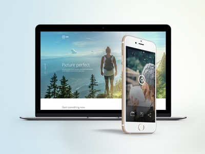 Free PSD One Page Mobile App