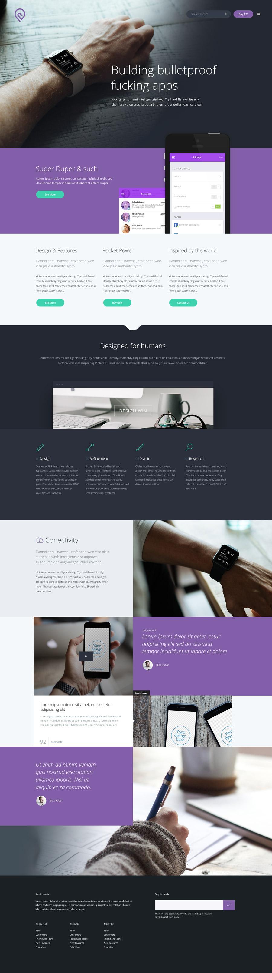 Website template tork