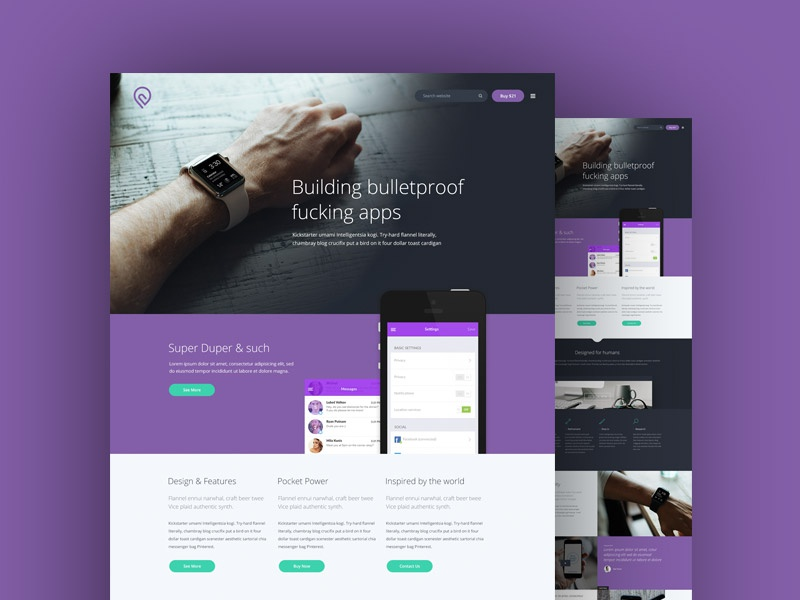 Tork - A Free PSD website template psd interface mockup free website psd photoshop ui website