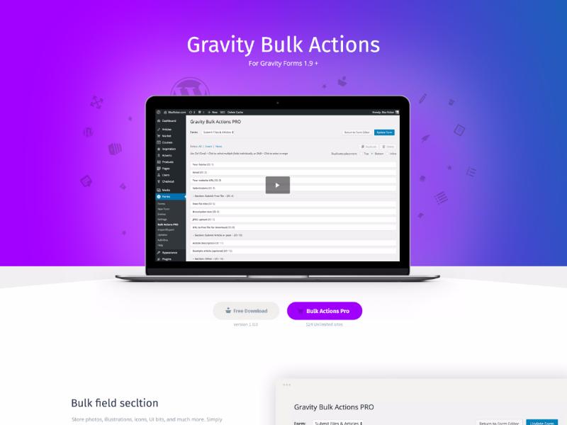Gravity Bulk Actions gravity forms wordpress plugin wordpress gravity bulk actions