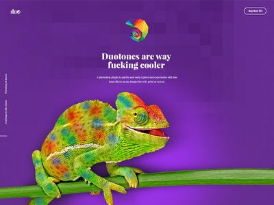 Duotones Photoshop Plugin - Sales Site web design sales site ui photoshop plugin plugin photoshop duotone