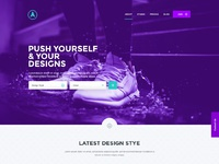 Eclipse free website psd template