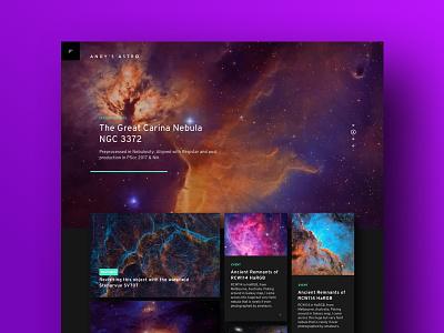 Astro Pix interface ux ui website design webdesign