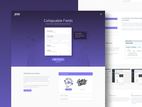 Sales landing page design