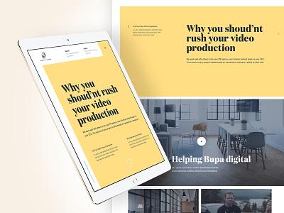 Video Production Interface interface design ux website design web design ui