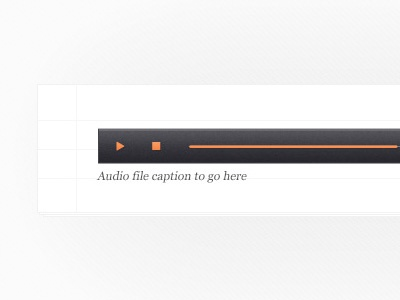 Free PSD: Clean Audio Player File
