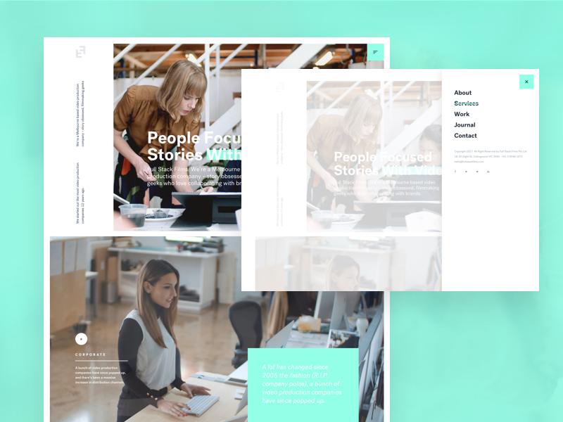 Production company design WIP interface design ux website design web design ui