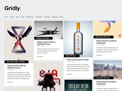 Gridly -  a free WordPress theme!!! wordpress themes free themes