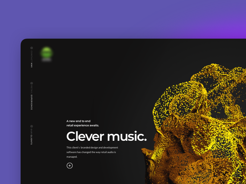 Clever Music sketch interface design web design single page ui ux