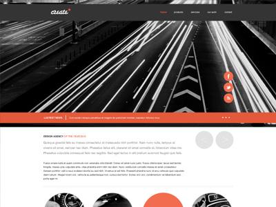 My latest Free PSD - A Free Minimal Web Design PSD web design website design web ui ui kit interface design web wireframes red