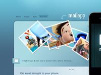 MailApp - Free iPhone Website PSD Template