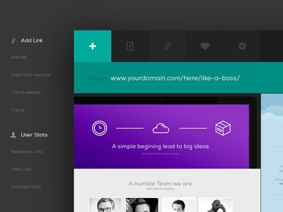 Free PSD - Ui Kit Web App Header web design ui psd free psd website dark