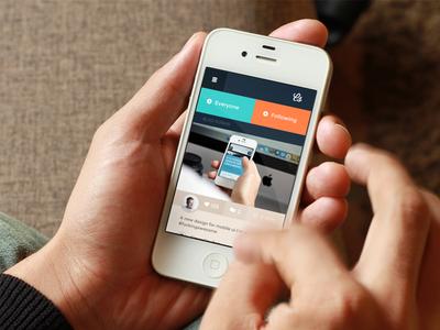 New Mobile Concept mobile web ui psd flat creative