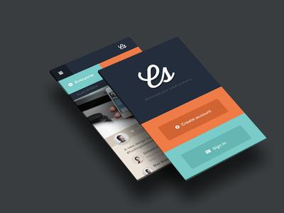 Creative Status web mobile ui psd flat design creative