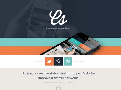 Creative Status Single Page Site