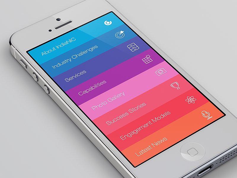 IndiaNIC App app colors ios7 icons iphone 5 app store download