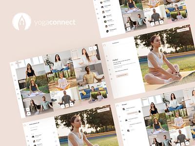 Yoga Connect - Yoga Tutor Platform logo figma yoga platform app ui