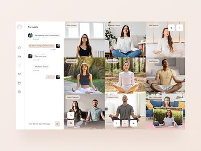 Yoga Connect - Yoga Tutor Platform platform tutor yoga figma design ui app