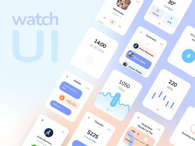 Watch UI Exploration apple watch colors design ui app
