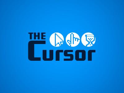 The Cursor logo art brand branding circle clean concept creative identity blue pixel print process