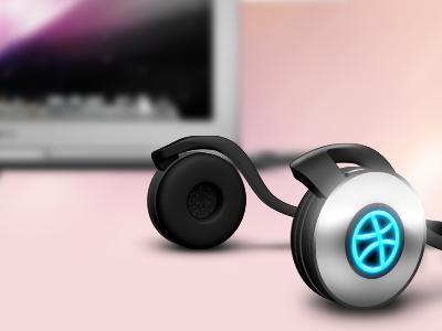 Headphone headphone 3d photoshop dribbble concept