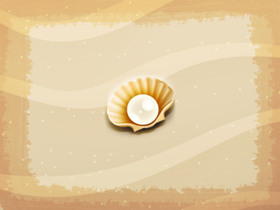 Element3 sea-shell beach pearl art illustration android apple cute digital element game icon brown