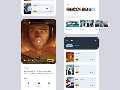 Movie App cinema martian minimal app movie movie app