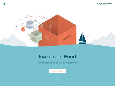 Campaign landing investment sea boat cube box fund