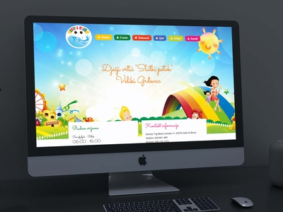 "Website Development - Dječji vrtić ""Slatki potok"" web developer webdesign flat ux ui web design"