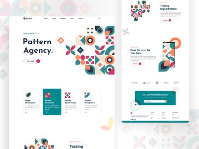 Pattern Agency web design minimal ux ui landingpage art illustration pattern agency pattern shape pattern design header design
