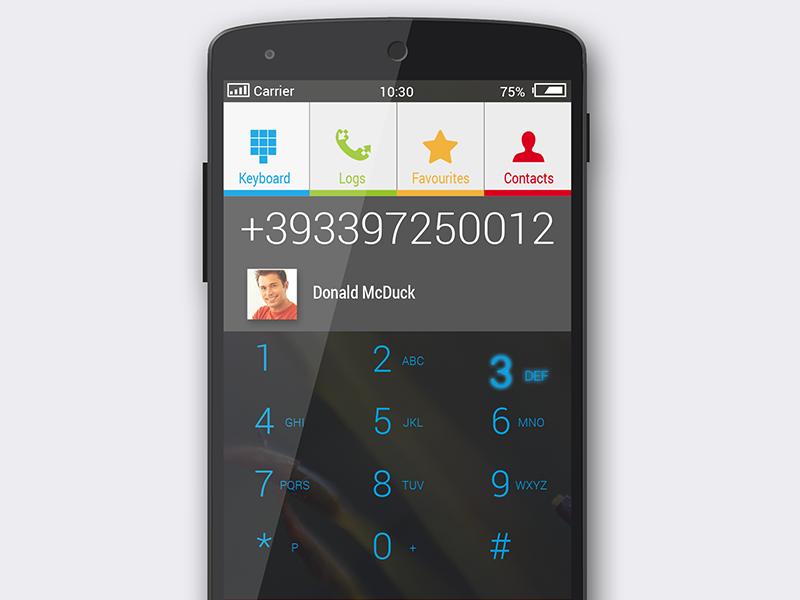 Android Dialer Lucarossiweb by Luca Rossi on Dribbble