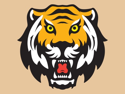 Rawr! Tiger tiger logo branding sports branding sports design wildlife animal sports logo sports tigers tiger drawing icon illustrator logo art design illustration vector