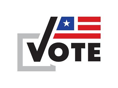 Vote 2020 usa flag usa politics election vote branding typography icon illustrator logo art design illustration vector