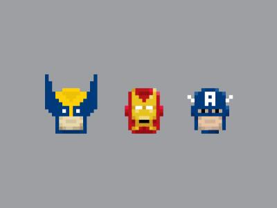 Pixel avengersmugs dribbble