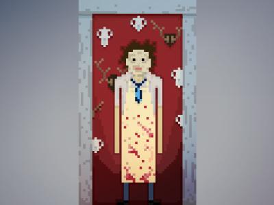 Pixelween Leatherface  horror art halloween illustration pixel vector