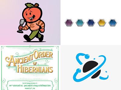 2018 Top 4 art lines branding ui illustrator logo design illustration vector