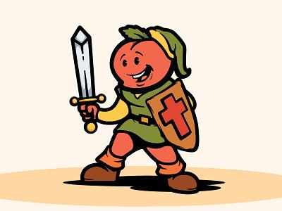 Legend of Peach zelda game mascot illustrator logo art illustration design vector
