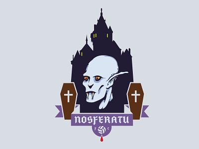 Nosferatu FC sports soccer football crest badge logo vector illustration