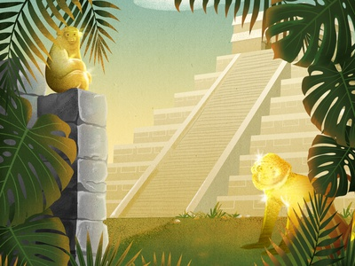 Django Jungle procreate gold idols photoshop