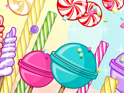 Candy Coded illustrator colorful candy